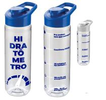 Garrafa água bpa free decorada hidratômetro 700 ml - 1696 - Artebel