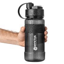 Garrafa Água Liquid 1 Litro Invictus Preta Livre Pba C/alça -