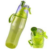 Garrafa de Água Com Borrifador Squeeze Hidratação Verde CBRN08414 - Commerce brasil
