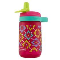 Garrafa de água infantil - Rosa 414ml - Rubbermaid - Bico -