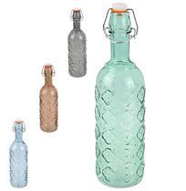 Garrafa de vidro trevo transcolor com tampa hermetica fecho 720ml - Wellmix