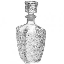 Garrafa Licoreira Retrô Em Vidro Para Whisky E Licor De 810 ML Quadrada Transparente - Wellmix