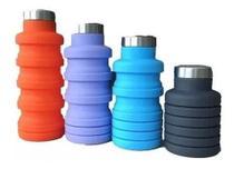 Garrafa Silicone Retratil Dobrável 500 Ml Colorido - Não Informada