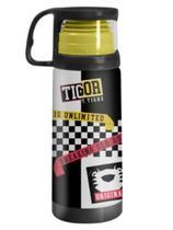 Garrafa Squeeze Termica 350ml Com Caneca Tigor T Tigre Uatt -