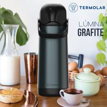 Garrafa Térmica 1 Litro Lúmina Grafite Termolar Chá Café -