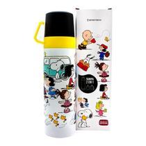 Garrafa Térmica 500 ml com Caneca Turma Snoopy - Zona Criativa