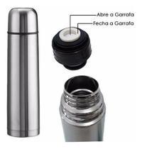 Garrafa Térmica 750 Ml Aço Inox Inquebrável - Onyx