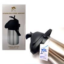 Garrafa Térmica Aço Inox Inquebrável 1,3 Litros Com alavanca Stainless Steel -