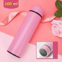 Garrafa Térmica Com Marcador De Temperatura Cor: Rosa - Tomate