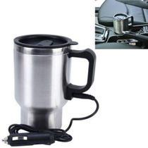 Garrafa termica em inox eletrica 12v copo aquecedor para carro automovel caminhao e barco - Makeda