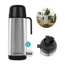 Garrafa térmica lúmina inox 1l rolha clean 55580 - TERMOLAR