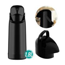 Garrafa termica magic pump 1,8l preta pressão 54737 - TERMOLAR