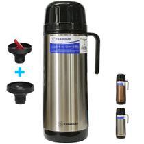 Garrafa térmica termolar inox 1l livre bpa tampa rosca ampola interna chá café chimarrão com nfe -