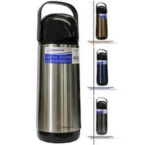 Garrafa térmica termolar lúmina inox 1l tampa pressão livre bpa chá café água chimarrão envio já -