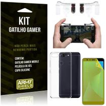 Gatilho Gamer Samsung Galaxy S10e Gatilho + Capa Silicone + Película Vidro - Armyshield -