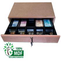 gaveta caixa para dinheiro em MDF cru - Balcões.Tk