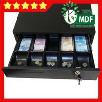 gaveta caixa para dinheiro em MDF preto - Balcões.Tk