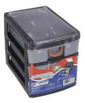 Gaveteiro Caixa Organizadora Com 3 Gavetas - Arqplast -