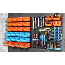 Gaveteiro estante com organizador de ferramentas prateleira multiuso com 28 caixas para parede - KANGUR