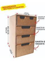Gaveteiro Organizador Multiuso Pequeno de Mesa (32-Altura x 23-Profundidade x 17-Largura cm) - Girassol