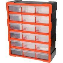 Gaveteiro organizadora de mesa 18 gavetas 36 divisorias caixa e parede multiuso profissional kangur -
