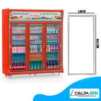 Gaxeta borracha geladeira Gelopar 2, 3, 4, 5 e 6 portas GEVT 140 X 44 cod. 006342.09 - Ilpea