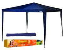 Gazebo oxford azul 3,00x3,00m mor