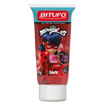 Gel Dental Infantil Bitufo Miraculous com Flúor Tutti Frutti Personagens Sortidos 90g -
