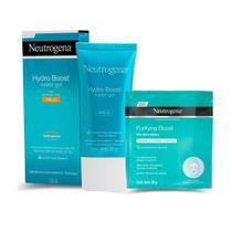 Gel facial Neutrogena hydro boos FPS 25 55g + Máscara Neutrogena hidrogel purifyng boost 30ml -
