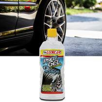 Gel Pneu Ultra Black Luxcar Platinum 500g Brilho Intenso Pretinho Automotivo -