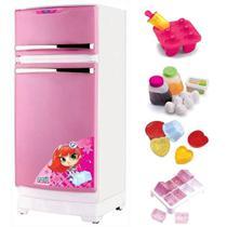 Geladeira Branca e Rosa Mágica Para Cozinha Infantil Magic Toys 8051P -