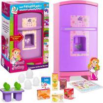 Geladeira Brinquedo Criança Infantil Sonho de Menina Rosa/Lilás Sweet Fantasy Cardoso Toys - Sid Nyl