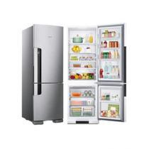 Geladeira Consul Inox Frost Free 220v Freezer em Baixo 397 Litros -