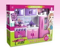 Geladeira Cozinha Completa Brinquedo Menina Lua de Cristal -