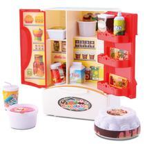 Geladeira Duplex Infantil Com Som Luz E Acessórios - Samba Toys