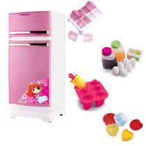 Geladeira Infantil com Acessórios Rosa Magic Toys 8051P -