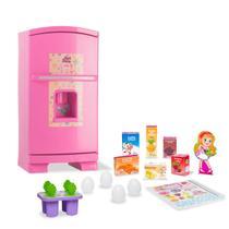 Geladeira infantil De Brinquedo 50cm  Rosa Sweet Fantasy - Cardoso Toys