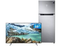 "Geladeira/Refrigerador 453L + Smart TV 4K LED 58"" - Samsung"