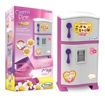 Geladeira Refrigerador Infantil Pop Casinha Flor Xalingo -