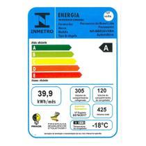 Geladeira/Refrigerador Panasonic 425 Litros NR-BB53, Frost Free, 2 Portas, Tecnologia Inverter Glass, Preto -