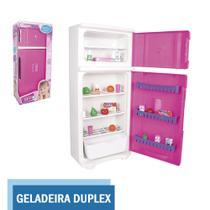 Geladeira Rosa Duplex Infantil Grande Menina 15 Acessórios - Lua De Cristal