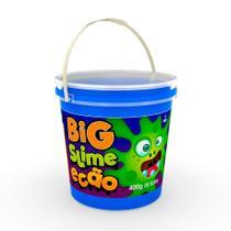 Geleca Big Slime Ecão - Balde com 400 g - Azul - DTC -