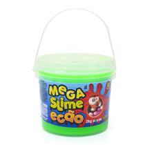 Geleca Mega Slime Ecão - Balde com 2 kg - Verde - DTC -