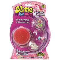 Geleca Slime Kit Mix - Unicórnio Maravilha - Dtc -