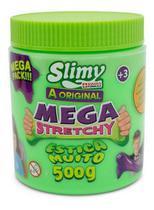 Geleca Slimy Mega Stretchy - Elástica - Verde - Toyng 500g - Mga