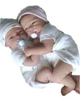 Gemeos Bebe Reborn molde importado Autentico - Baby dollls