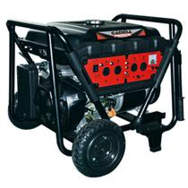 Gerador à Gasolina 6,5KVA 4T 7100W Bivolt c/ Rodas e Partida Elétrica Ref. GE3467BR GAMMA -
