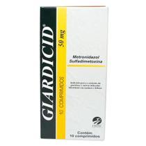 Giardicid 50mg C/ 10 Comprimidos - CEPAV PHARMA
