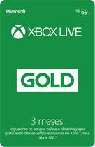 Gift Card Xbox Live - 3 meses - Microsoft