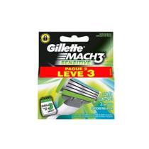 Gillette Carga Mach3 Sensitive Leve3 pague 2 -